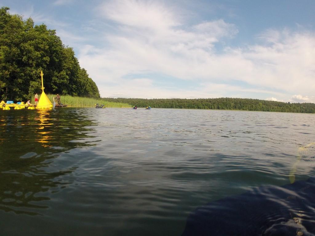 Obóz nurkowy - jezioro Niesłysz 2015